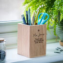 Teacher Gift Personalised Pen Holder With Star