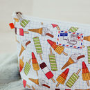 Icecream Lollies Ice Cream Makeup Toiletry Wash Bag