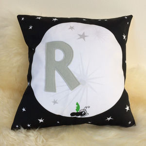 Personalised Children's Ant And Moon Cushion - cushions