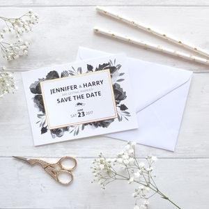 'Black Rose' Save The Date Cards - save the date cards