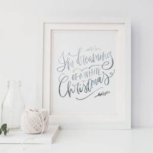 Dreaming Of A White Christmas Foil Print - view all new