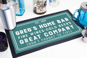 Personalised Bar Runner Home Bar Accessory - placemats & coasters
