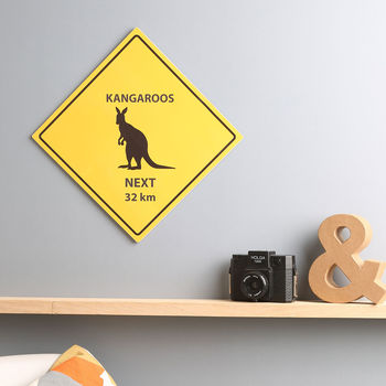 Personalised Animal Warning Road Sign Print