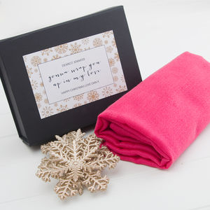 Pure Cashmere Scarf In A Personalised Gift Box - scarves
