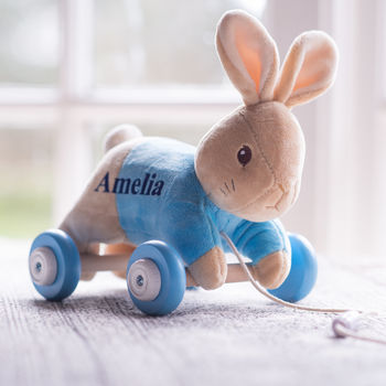 Personalised Peter Rabbit Pull A Long Babies Toy