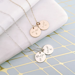 Personalised Coordinates Necklace 14 K Gold Filled - necklaces & pendants