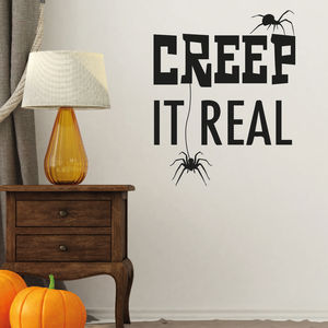 Creep It Real Halloween Decoration Wall Sticker