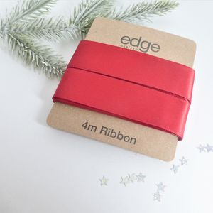 Double Satin Christmas Ribbon - finishing touches