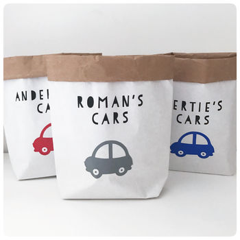 Toy Car Paper Sack