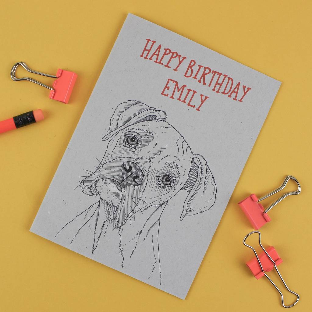 Boxer Dog Birthday Card