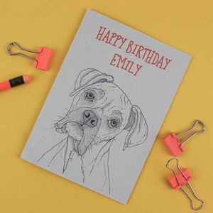 Boxer Dog Birthday Card - birthday cards