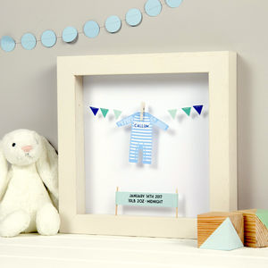 New Baby Personalised Papercut
