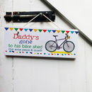 Personalised Gone Cycling Sign