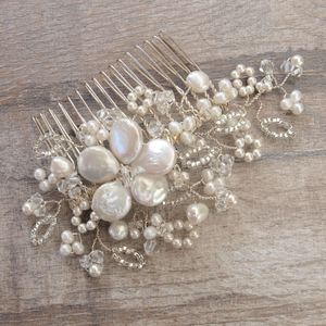 Antique Lace Pearl Bridal Hair Comb