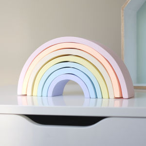 Pastel Rainbow Stacking Blocks - traditional toys & games