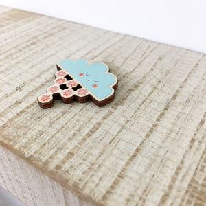 Wooden Cloud Pin - view all new