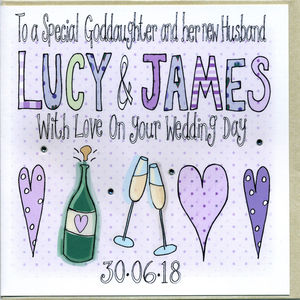 Personalised Goddaughter Or Godson Wedding Card - wedding cards