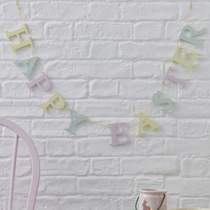 Happy Easter Garland Decoration - easter decorations