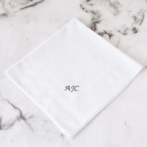 Personalised Embroidered Initial Handkerchief - men's accessories