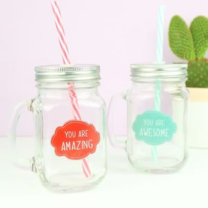 Positive Quote Mason Jars
