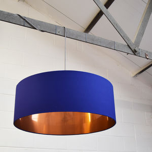 Oversize Brushed Copper Ceiling Pendant Shade - lighting