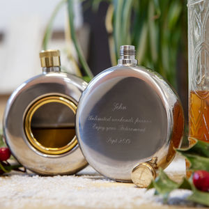 Engraved Round Hip Flask Limited Edition - hip flasks