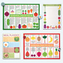 UK Seasonal Fruits And Vegetables Charts Postcards