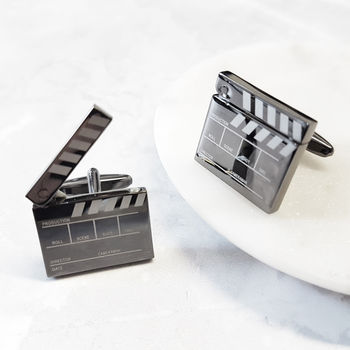 Clapper Movie Board Cufflinks Cinema Film
