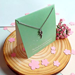 Green Fairy Keepsake Necklace Card - children's accessories