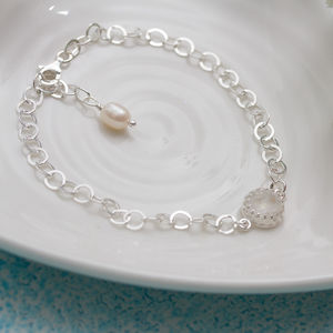 Pearl And Moonstone Bracelet For Bridesmaid - bracelets & bangles
