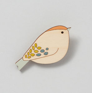 Goldcrest Bird Brooch - pins & brooches