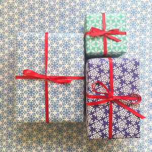 Snowflake Print Christmas Wrapping Paper - wrapping paper