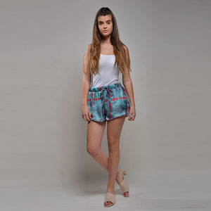 Shorts Pineapple Ocean Print - women's fashion