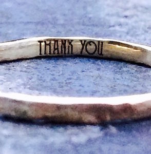 Personalised Message Ring, Solid 9ct Yellow Eco Gold