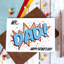 Personalised Father's Day Card, Comic Book Style