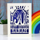 Personalised Any Age Papercut Birthday Card
