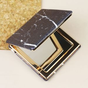 Black Marble Compact Mirror