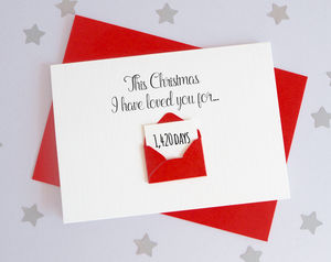 Personalised Christmas Days Envelope Card - cards