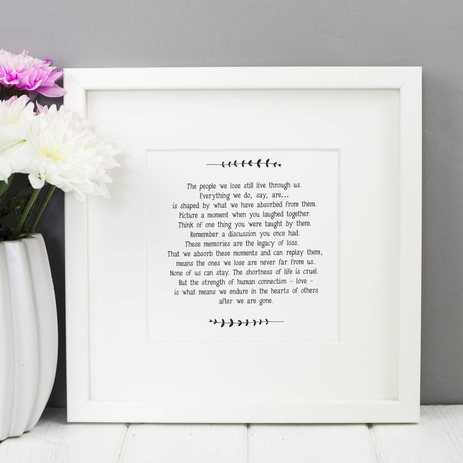 Sympathy bereavement loss card by bespoke verse notonthehighstreet sympathy bereavement loss card izmirmasajfo Gallery