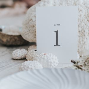 Elegance Table Number And Name Cards - table numbers