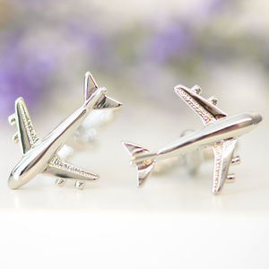 Jet Aeroplane Cufflinks - women's jewellery
