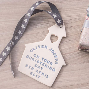 Personalised Ceramic Christening Gift - christening gifts