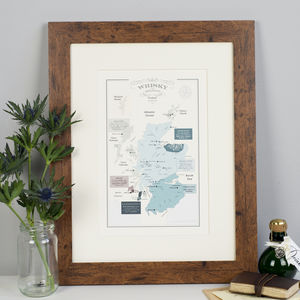 Whisky Map Of Distillery Regions In Scotland Print
