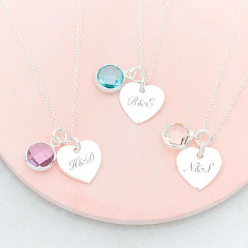 Emily Personalised Heart Necklace