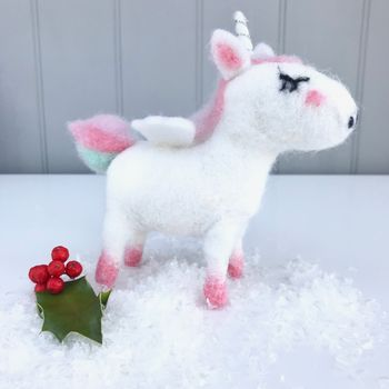 Unicorn Felt Decoration