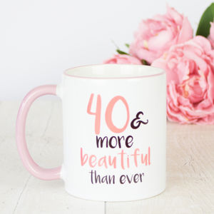 40th Birthday Gift Mug - dining room