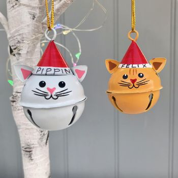 Personalised Christmas Cat Decoration