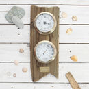 'Coastal Adventurer' Personalised Weather Dial Gift Set