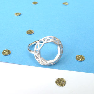 Geometric Circle Ring - rings