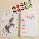 12 Childs Party Invites Circus Horse Design